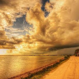Dunedin Causeway Beach, Florida. by Edward Allen - Landscapes Cloud Formations
