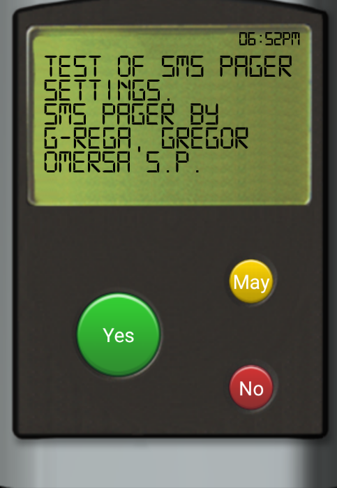 SMS Pager PRO Screenshot 0
