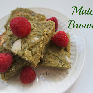Matcha White Chocolate Brownies