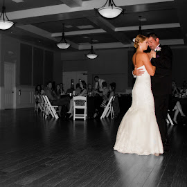 The dance by Matthew Chambers - Wedding Reception ( dancing, wedding, bride, groom )