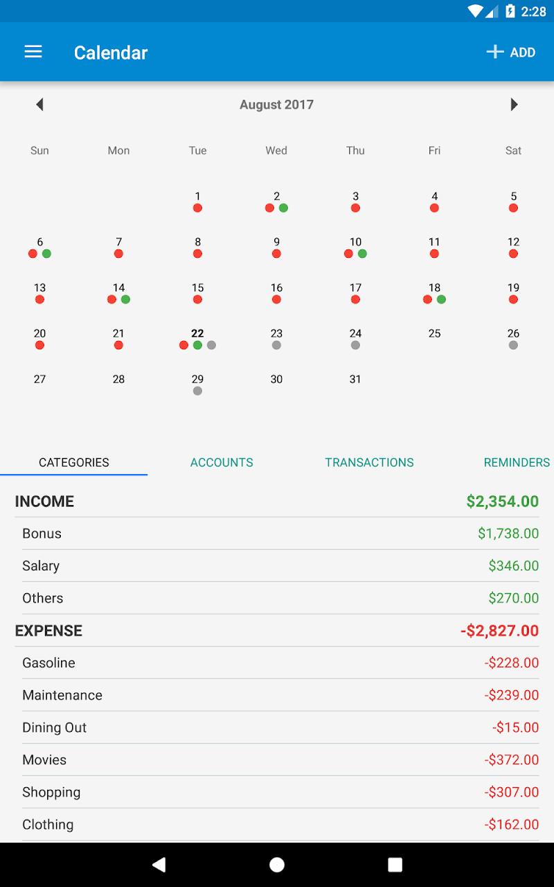 Bluecoins- Finance & Budget Screenshot 18