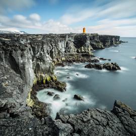 Black Cliffs / Svortuloft by Jónas H. Ottósson - Landscapes Waterscapes ( north atlantic, icealnd, forces of nature, black cliffs, svörtuloft, rocks )
