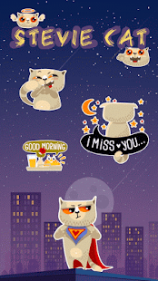Kika Pro Stevie Cat Sticker - screenshot