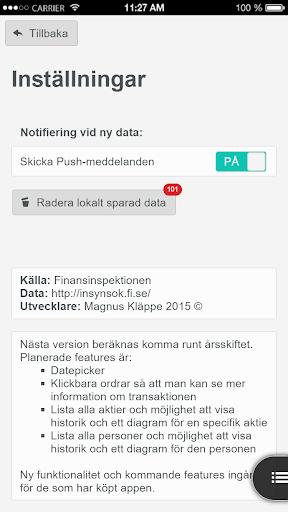 Insynslistan - screenshot