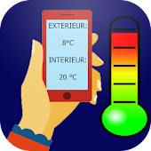 Thermometer inside and outside Icon
