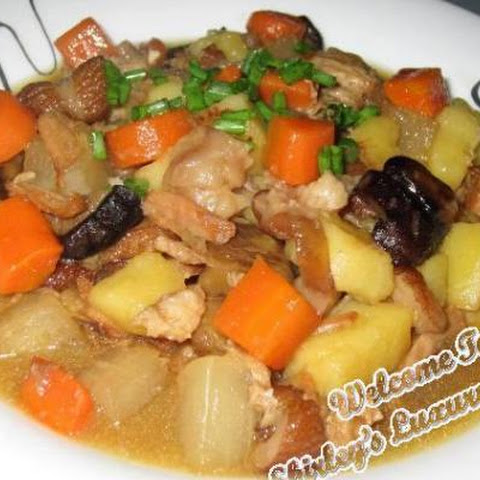 Colourful Narcissus Stewed Pork