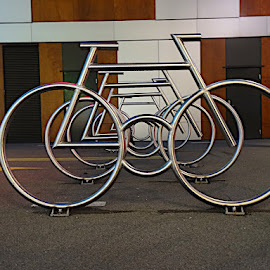Bike racks by Kenneth Spaberg - Transportation Bicycles ( racks, bike, oslo, art, architecture, design, norway, bicycle )