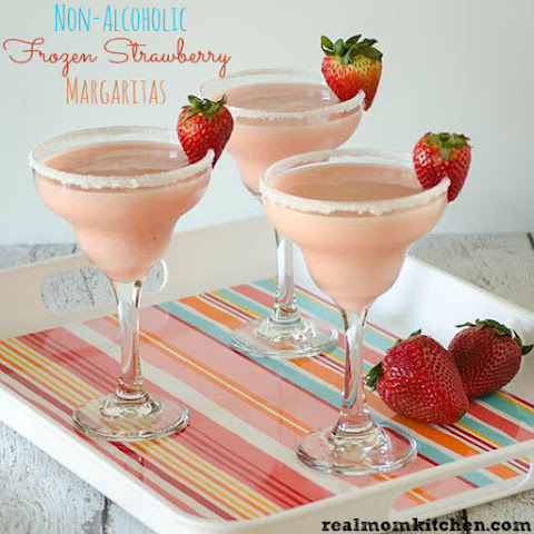 Non-Alcoholic Frozen Strawberry Margaritas