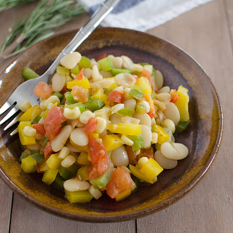 Lima Bean Succotash with Garlic-Rosemary Dressing