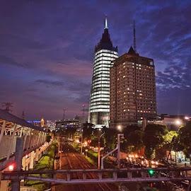 Jakarta by Johny Johny - City,  Street & Park  City Parks ( #cityscape, #nightcapture, #jakarta )