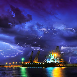 Thunderstrike by Sinisa Mrakovcic - Landscapes Cloud Formations (  )