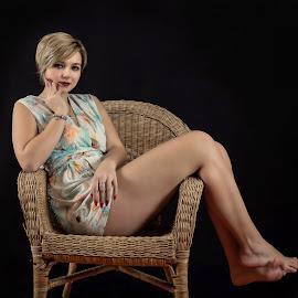 Relax by Klaus Müller - People Portraits of Women ( woman, beautiful, legs, people, portrait )