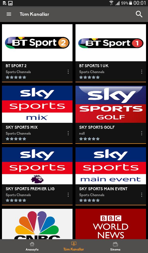 Mobil Android TV Screenshot 1