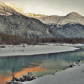 Winter Glow by Patricia Phillips - Landscapes Travel ( winter alaska portage )
