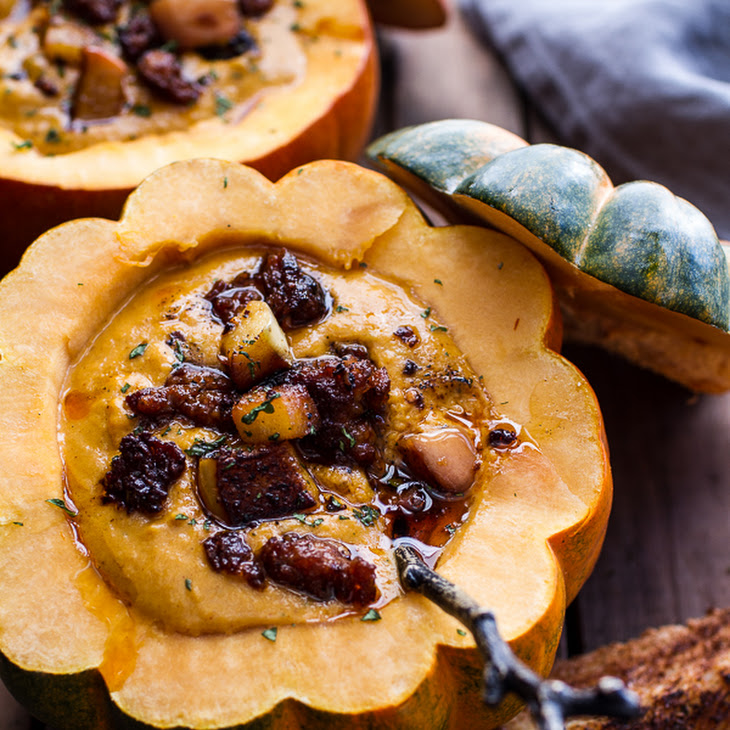 Chipotle Pumpkin Soup with Crispy Chorizo + Glazed Apples. Recipe ...