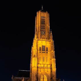 Eusebiuskerk Arnhem  by Raymon Brugman - City,  Street & Park  Historic Districts ( church, night, surreal, arnhem, city )