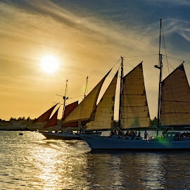 Key West Dreaming by Allie Cook - Transportation Boats ( water, sailing, florida, sunset, key west, sailboat )
