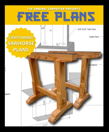 Free Custom Sawhorse Plans