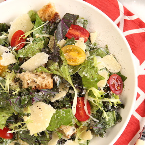 Rustic Caesar Salad with Parmesan Shards