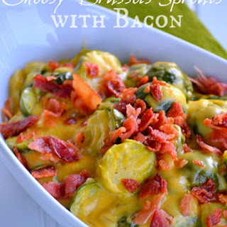 Cheesy Brussel Sprouts with Bacon