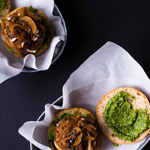 Pesto & Goat Cheese Burger