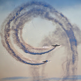 Sparkling Aerobatics... by David Lloyd-Jones - Transportation Airplanes