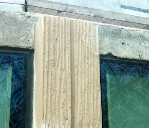 Decorative concrete column repair