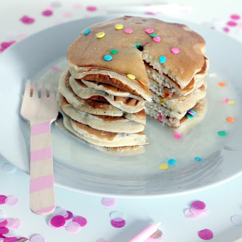 Cake Batter Birthday Pancakes