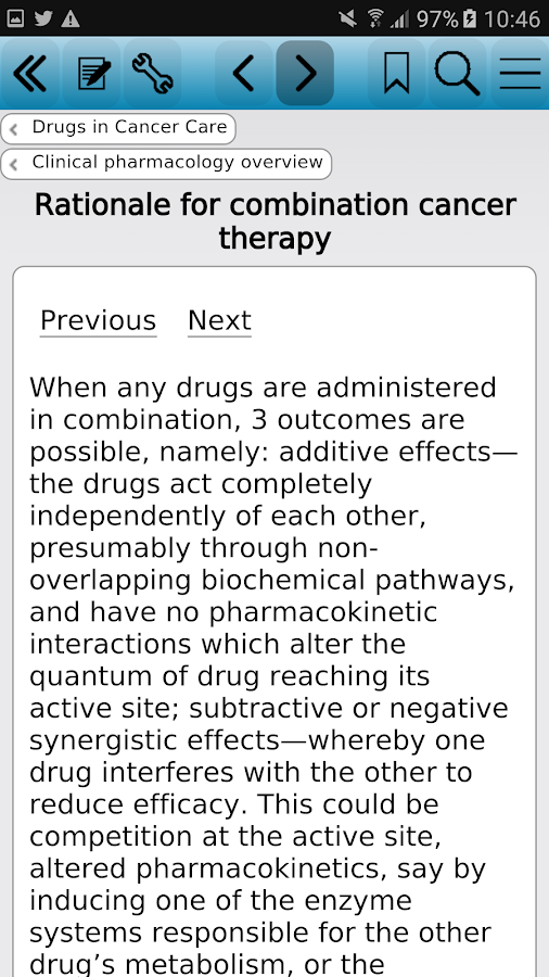 Drugs in Cancer Care Screenshot 1