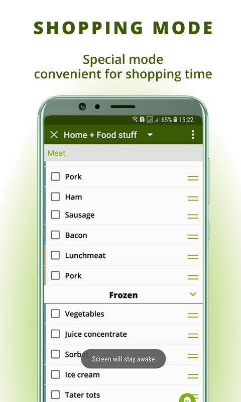 Grocery list: BigBag Pro Screenshot 3
