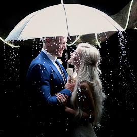 Rain by Lodewyk W Goosen (LWG Photo) - Wedding Bride & Groom ( love, wedding photography, wedding photographers, wedding day, wedding, weddings, brides, wedding photos, couple, wedding photographer, bride and groom, bride, groom, rain )