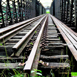 by Sultan Firaun - Transportation Railway Tracks ( the straet line )