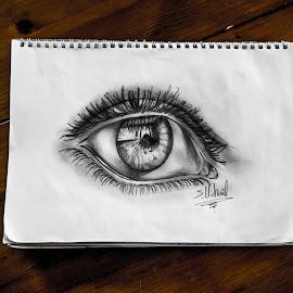 Realistic eye by DesignInk Sotoner - Drawing All Drawing ( pencil, realistic, blackandwhite, art, tattooartist, artist, tattoo, tattooart, custom, blackandgrey, eye )