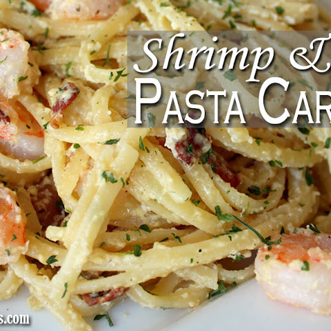 Shrimp and Bacon Pasta Carbonara