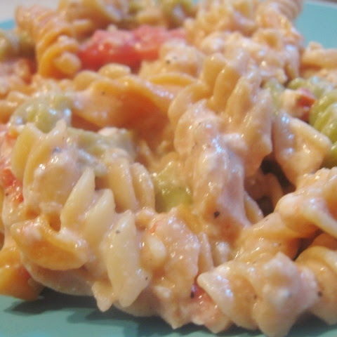 Healthy Mac N' Cheese with Tomatoes