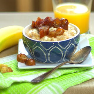 Oatmeal with Goat Cheese & Dates