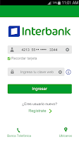 Screenshot of Interbank APP