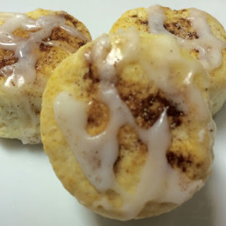 Frosted Cinnamon Biscuits