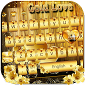 Download Gold Love theme for free Emoji Keyboard APK for Android Kitkat