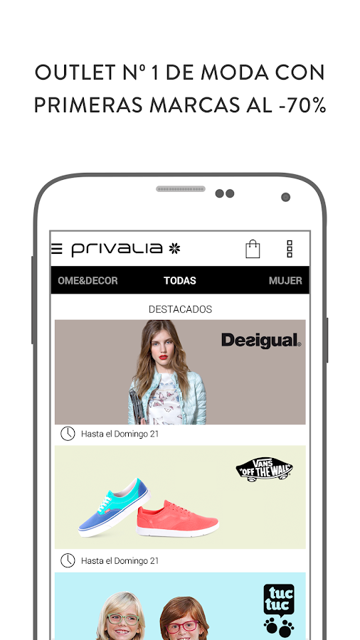 Privalia, outlet moda online Screenshot 0