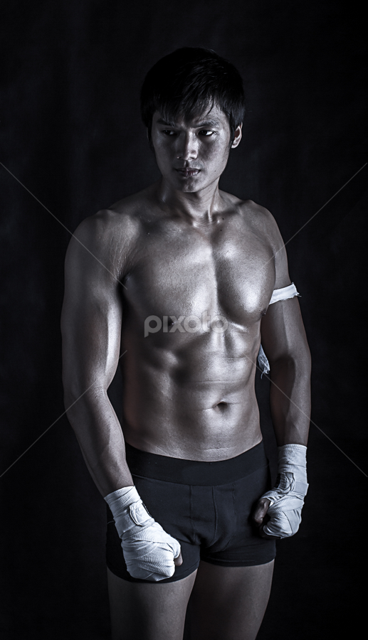 Stand by Steven Chu - Sports & Fitness Boxing ( punch, boxer, sport, boxing, muaythai )