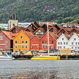 Bryggen by Richard Michael Lingo - Buildings & Architecture Public & Historical ( buldings, bryggen, norway, wharf, architecture )