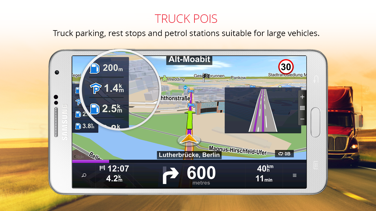 Sygic Truck GPS Navigation Screenshot 3