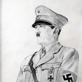 Adolf Hitler by Carmina Shan - Drawing All Drawing ( hitler, svastika, uniform, leader, nazi, adolf hitler, holocaust )