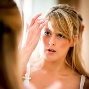 Getting Ready by . Reedd2 - Wedding Bride ( mirror, reflection, woman, wedding, bride,  )