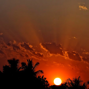 The Rays-2 by Subrata Sarkar - Landscapes Weather ( sunset, weather, natture )