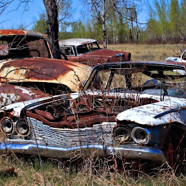 Rent a Wreck by Tim Day - Transportation Automobiles ( alberta, cars, prairies, old cars, broken down )