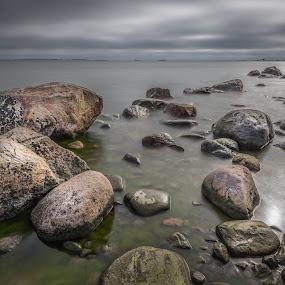 Stone way by Juha Kauppila - Landscapes Waterscapes ( many, water, sky, sea, stone, stones )