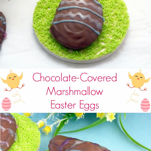 Chocolate Covered Marshmallow Easter Eggs