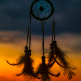 Dreamcatcher by Opreanu Roberto Sorin - Artistic Objects Other Objects ( up close, dreamcatcher, dream, color, focus, view, close up, light,  )